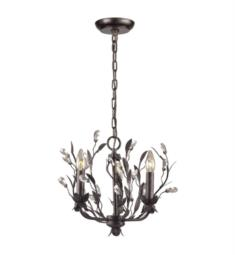 "Elk Lighting 8058-3 Circeo 3 Light 16"" Incandescent Chandelier Light in Deep Rust"