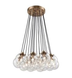 "Elk Lighting 14466-17 Boudreaux 17 Light 29"" Incandescent Clear Glass Chandelier Light in Satin Brass"