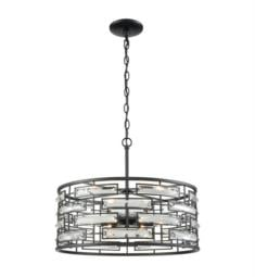Elk Lighting 46194-6 Lineo 6 Light 2 Incandescent Chandelier Light in Matte Black