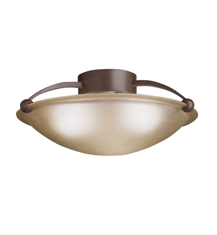 Kichler 8406TZ Semi Flush 3 Light in Tannery Bronze