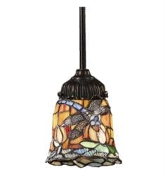 "Elk Lighting 078-TB-12 Mix-N-Match 1 Light 6"" Incandescent Multicolor Glass Shade Mini Pendant in Tiffany Bronze"