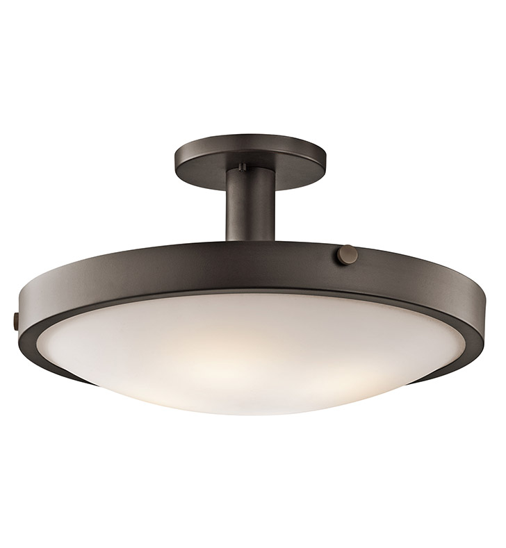 Kichler 42246OZ Semi Flush 4 Light in Olde Bronze