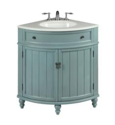 "Chans Furniture GD-47544BU Benton Thomasville 24"" Corner Freestanding Single Bathroom Vanity in Light Blue"