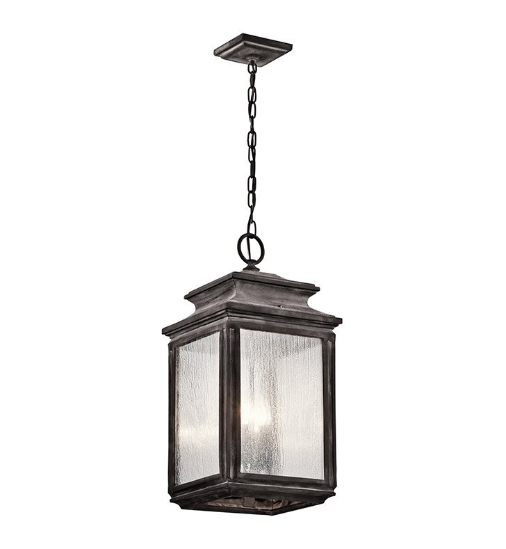 Kichler 49505WZC Outdoor Pendant 4 Light in Weathered Zinc