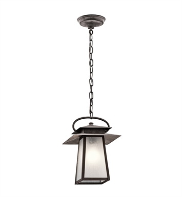 Kichler 49536WZC Outdoor Pendant 1 Light in Weathered Zinc