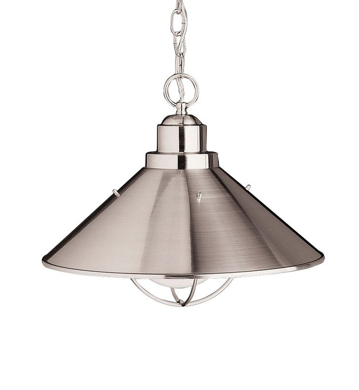 Kichler 2713NI Outdoor Pendant 1 Light in Brushed Nickel