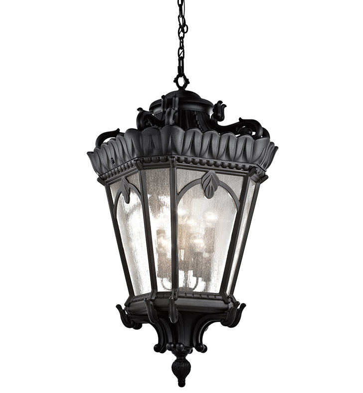 Kichler 9568BKT Outdoor Hanging Pendant 8 Light in Textured Black