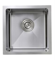 "Nantucket SR1515 Pro Series 15"" Single Bowl Undermount Stainless Steel Bar/Prep Kitchen Sink in Brushed Satin"