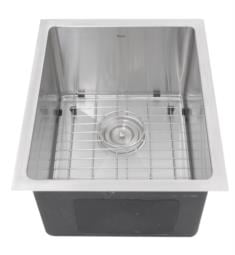"Nantucket SR1815 Pro Series 15"" Single Bowl Undermount Stainless Steel Bar/Prep Kitchen Sink in Brushed Satin"