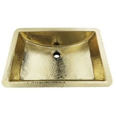 "Nantucket TRB-1914-OF Brightwork Home 21"" Single Bowl Undermount Brass Rectangular Bathroom Sink"