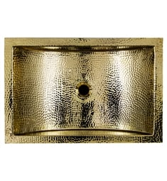 "Nantucket TRB2416-OF Brightwork Home 23 1/2"" Single Bowl Undermount Brass Rectangular Bathroom Sink"