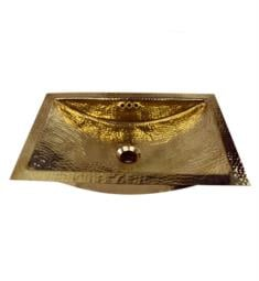 "Nantucket TRB-OF Brightwork Home 19 3/4"" Single Bowl Undermount Brass Rectangular Bathroom Sink"