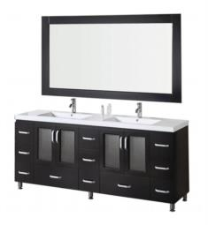 "Design Element B72-DS Stanton 72"" Freestanding Double Sink Bathroom Vanity Set in Espresso"