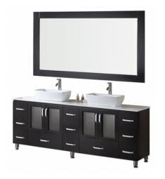 "Design Element B72-VS Stanton 72"" Freestanding Double Vessel Sink Bathroom Vanity Set in Espresso"