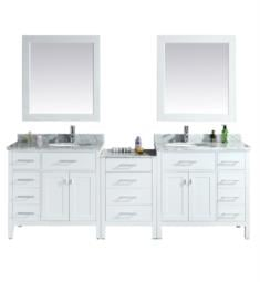 "Design Element DEC076D-W-92 London Stanmark 92"" Freestanding Double Sink Bathroom Vanity Set in White"