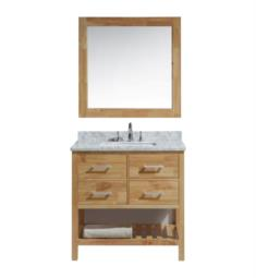 "Design Element DEC077A-O London Cambridge 36"" Freestanding Single Sink Bathroom Vanity Set in Honey Oak"
