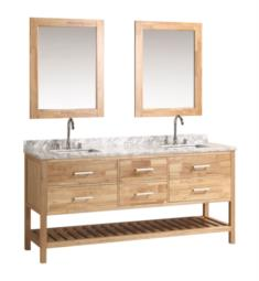 "Design Element DEC077B-O London Cambridge 72"" Freestanding Double Sink Bathroom Vanity Set in Honey Oak"