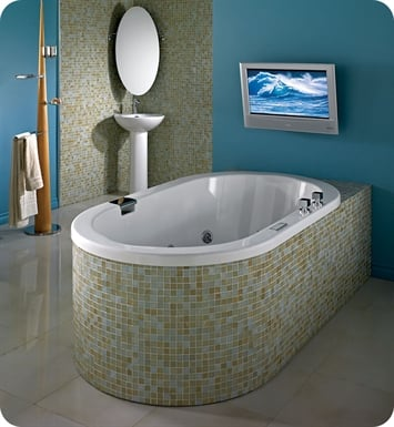 "Neptune TAO3260 Tao 60"" x 32"" Customizable Oval Bathroom Tub"
