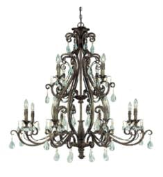 "Craftmade 25612-FR Englewood 12 Light 40"" Incandescent Two Tier Crystals Chandelier in French Roast"