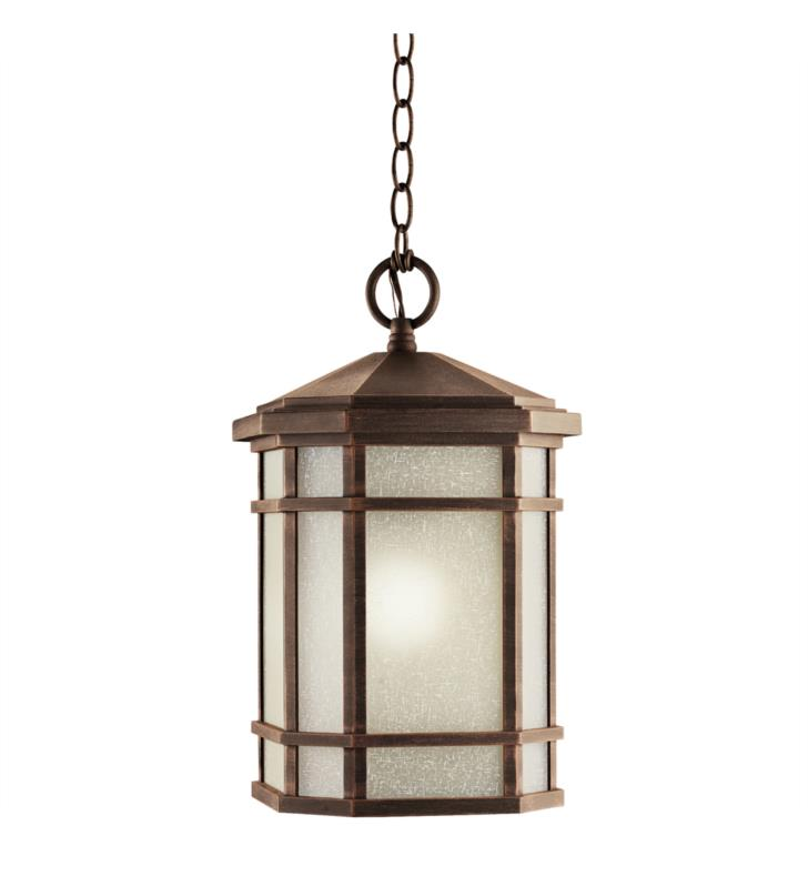 Kichler 9511PR Cameron 1 Light Incandescent Outdoor Hanging Pendant in Prairie Rock