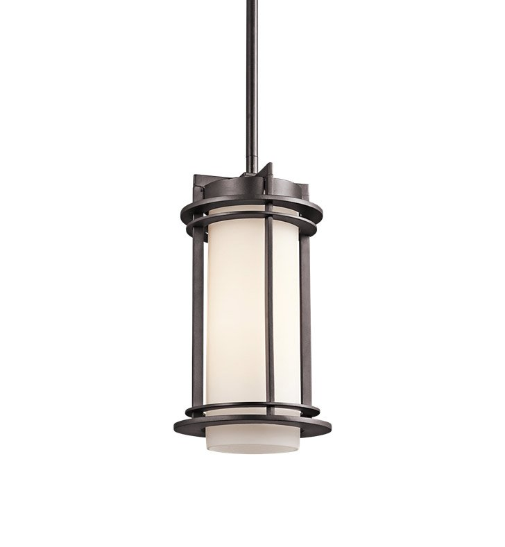 Kichler 49347AZ Outdoor Hanging Pendant 1 Light in Architectural Bronze