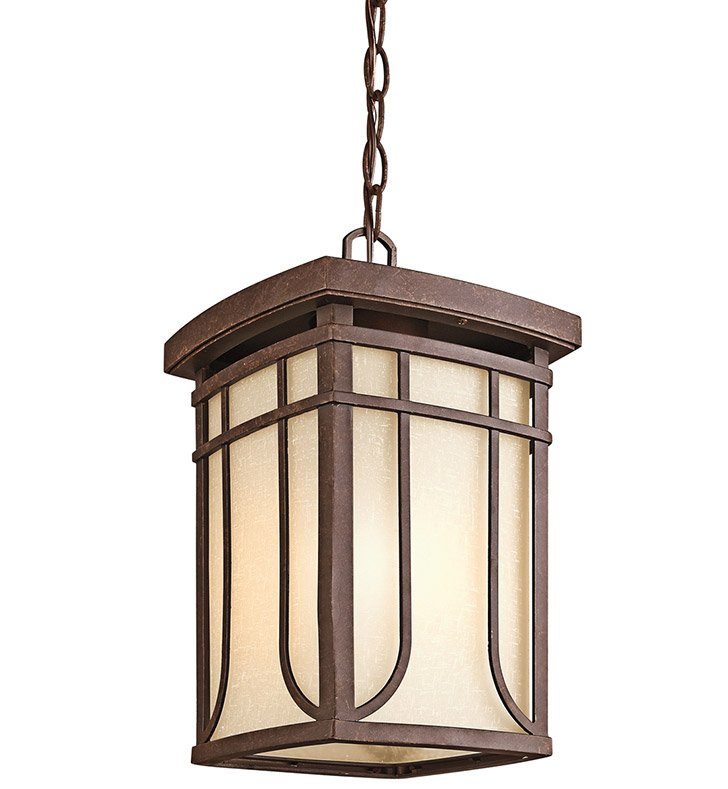 Kichler 49152AGZ Outdoor Hanging Pendant 1 Light in Aged Bronze