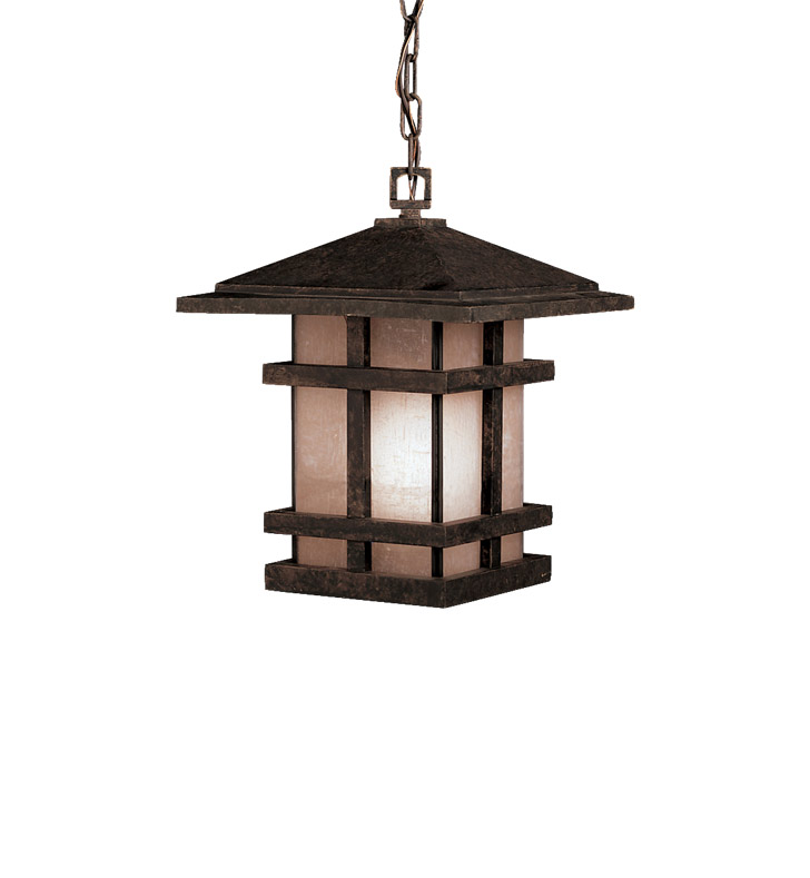Kichler 9829AGZ Outdoor Hanging Pendant 1 Light in Aged Bronze
