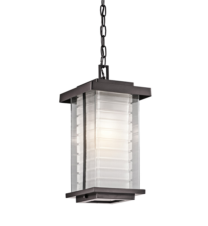 Kichler 49368AZ Outdoor Hanging Pendant 1 Light in Architectural Bronze