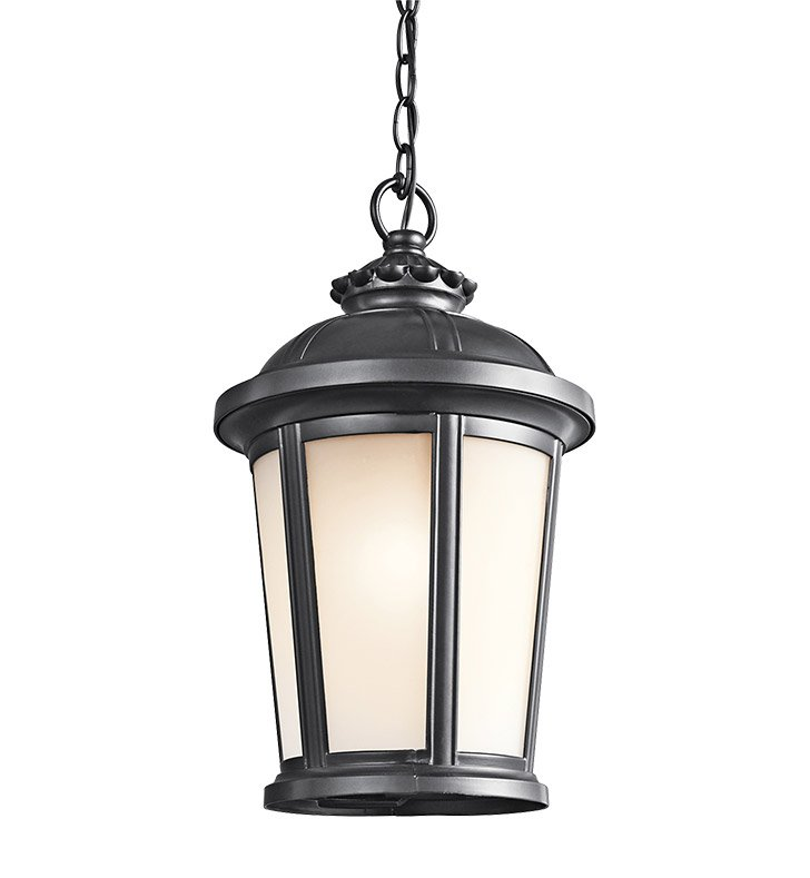 Kichler 49412BK Outdoor Hanging Pendant 1 Light in Black