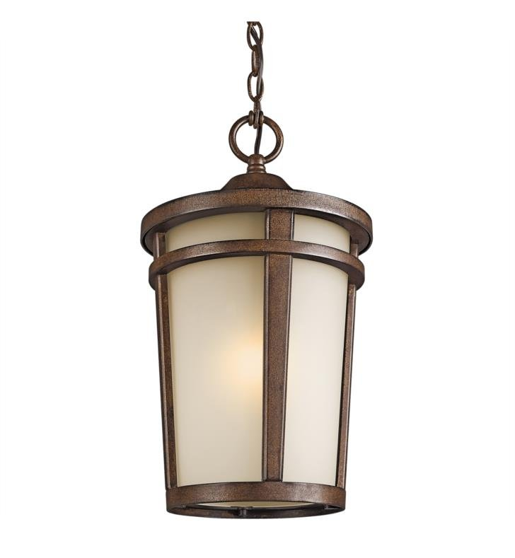 Kichler 49075BST Atwood 1 Light Incandescent Outdoor Hanging Pendant in Brown Stone