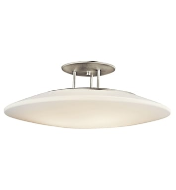 Kichler 10899NI Ara Collection Semi Flush 4 Light Fluorescent in Brushed Nickel
