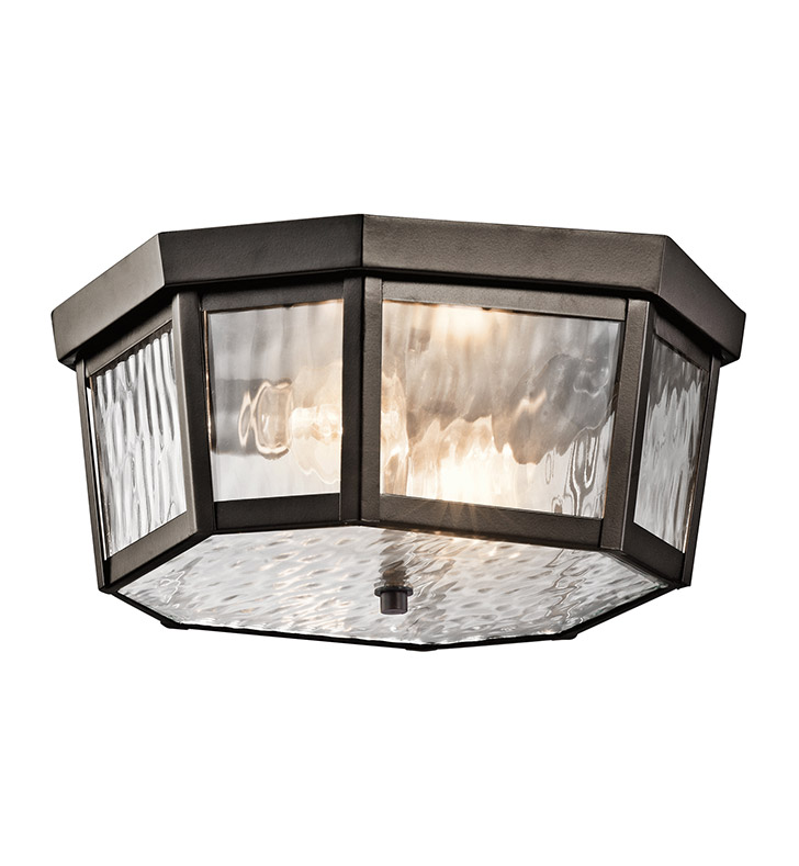 Kichler 49518OZ Outdoor Ceiling 2 Light in Olde Bronze