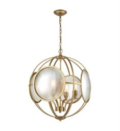 "Dimond Lighting D3371 Le Style Metro 4 Light 23"" Incandescent One Tier Chandelier in Gold"