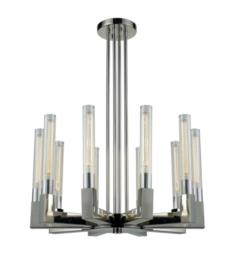 "Dimond Lighting D3543 Light Thrust 10 Light 31"" Incandescent One Tier Chandelier in Polished Nickel"