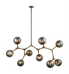 "Dimond Lighting D3564 Synapse 9 light 60"" Incandescent One Tier Chandelier in New Aged Brass/Smoke Grey"