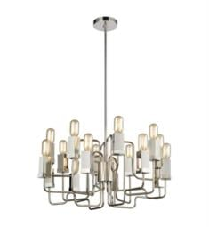 "Dimond Lighting 1141-065 Symposium 16 Light 26 1/2"" Incandescent One Tier Chandelier in Polished Nickel"
