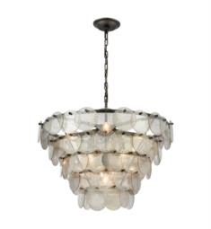 "Dimond Lighting 1141-084 Airesse 9 Light 25"" Incandescent One Tier Chandelier in Brushed Slate"