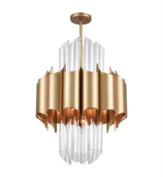 "Dimond Lighting 1140-062 Cold Rolled 20 Light 24"" Incandescent One Tier Chandelier in Matte Gold"