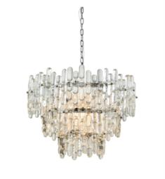 "Dimond Lighting 1141-086 Icy Reception 9 Light 27"" One Tier Clear Glass Shade Chandelier in Chrome"
