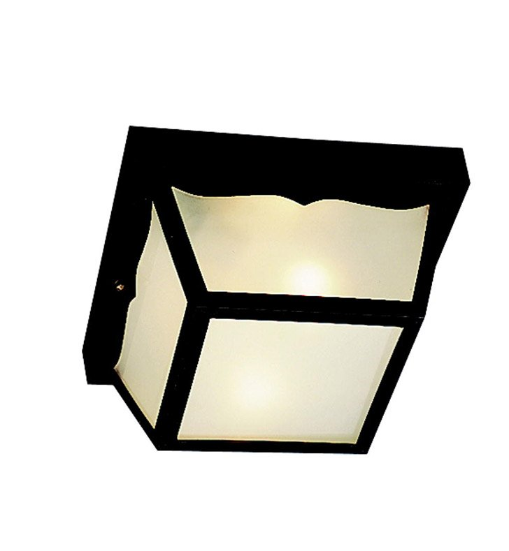 Kichler 9322BK Outdoor Flush Mount 2 Light With Finish: Black