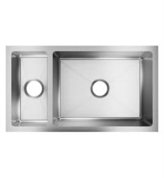 "Elkay EFRU321910T Crosstown 32 1/4"" Double Bowl Undermount Stainless Steel Kitchen Sink in Polished Satin"
