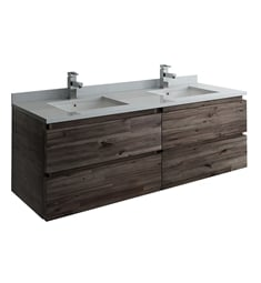 "Fresca FCB31-3030ACA Formosa 60"" Wall Hung Double Sink Modern Bathroom Cabinet"