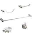 Fresca FAC1300BN Solido 5 Piece Bathroom Accessory Set in Brushed Nickel