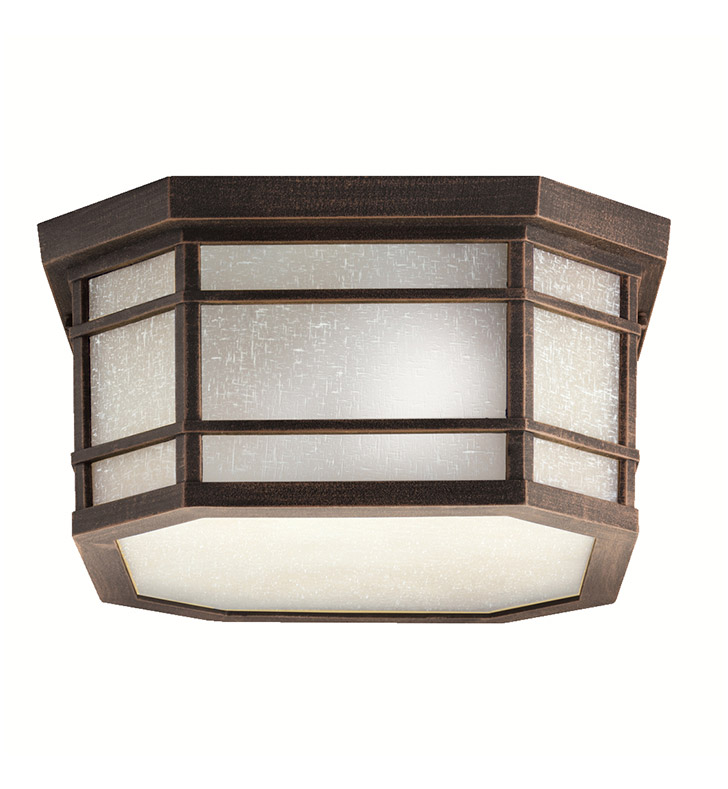 Kichler 9811PR Outdoor Flush Mount 3 Light in Prairie Rock