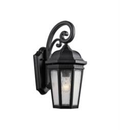 "Kichler 9033BKT Courtyard 1 Light 8 1/4"" Incandescent Outdoor Wall Sconce in Textured Black"