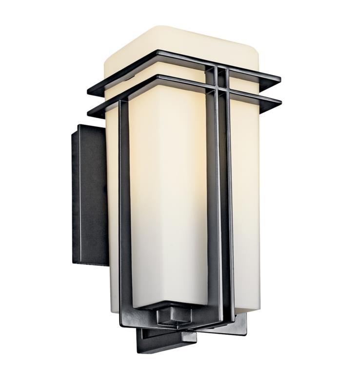 "Kichler 49200BKFL Tremillo 1 Light 5 3/4"" Fluorescent Outdoor Wall Sconce in Black (Painted)"