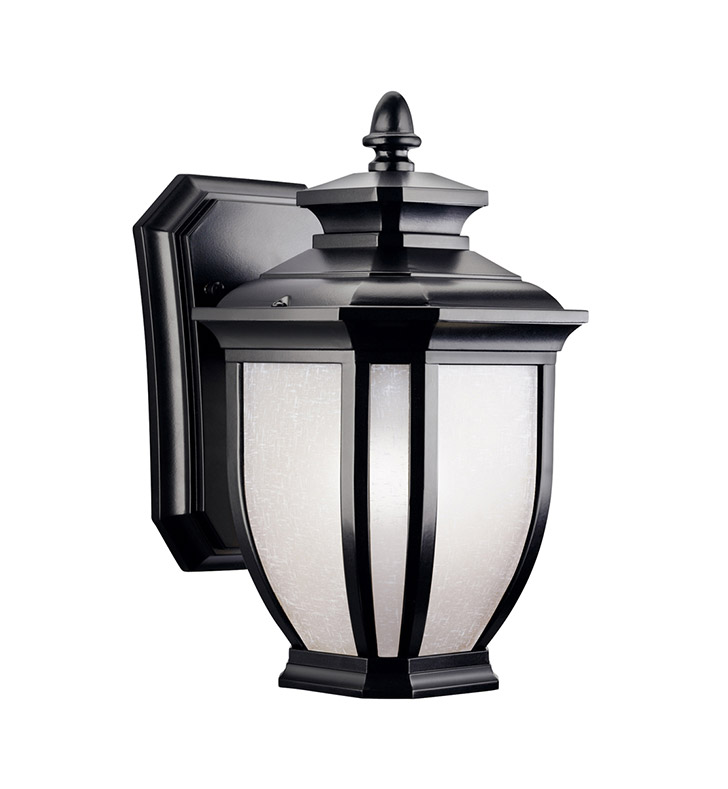 Kichler 9039BK Salisbury Collection 1 Light Outdoor Wall Sconce in Black (Painted)