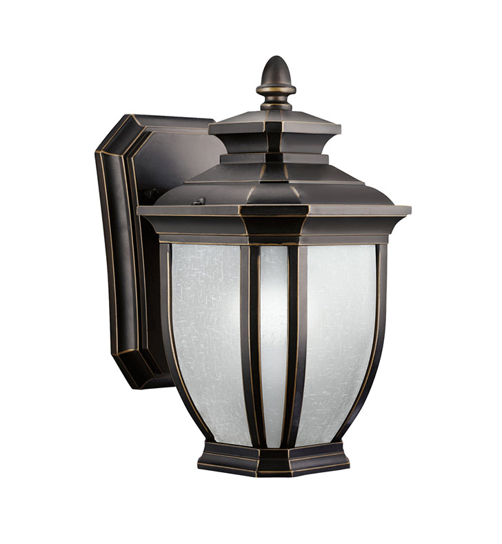 Kichler 9039RZ Salisbury Collection 1 Light Outdoor Wall Sconce in Rubbed Bronze