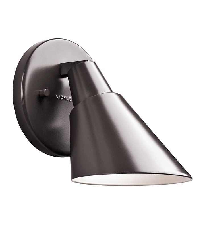 Kichler 49081AZ Beach Light Collection 1 Light Outdoor Wall Sconce in Architectural Bronze