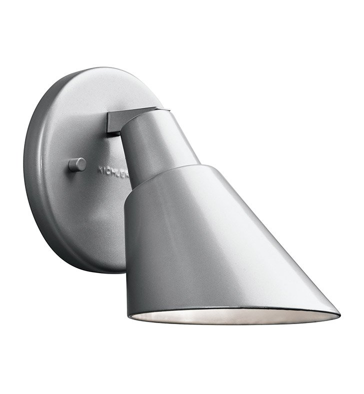 Kichler 49081PL Beach Light Collection 1 Light Outdoor Wall Sconce in Platinum